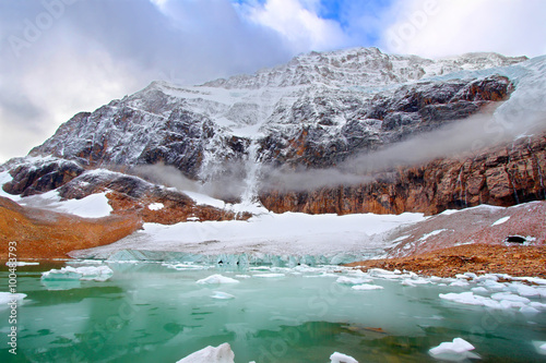 Printed kitchen splashbacks Glaciers Mount Edith Cavell Jasper National Park