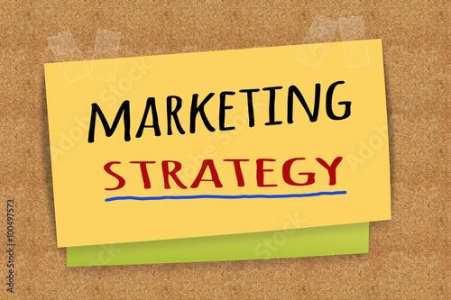 Marketing Strategy On Sticky Note