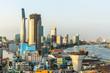 Top view of Ho Chi Minh City (Saigon), Vietnam...