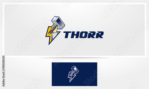 Thors Hammer Logo Canvas Print