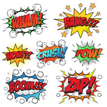 Comic Speech Bubbles Set, Comi...