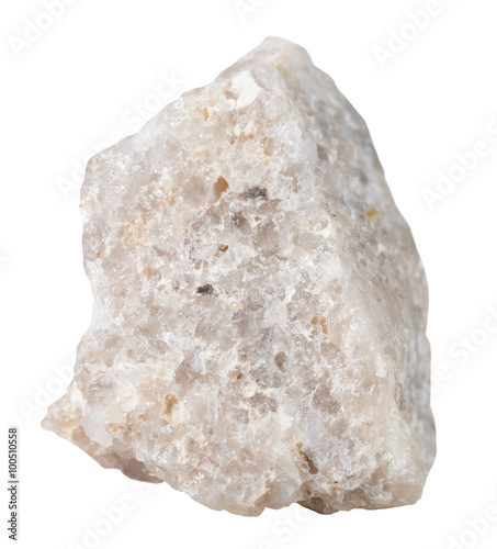 Obraz na plátne Conglomerate mineral stone isolated