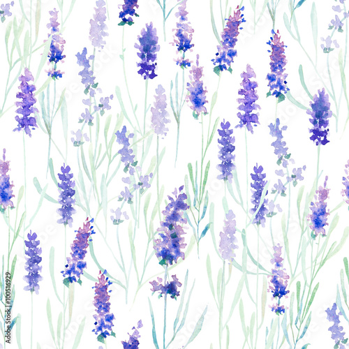 Cotton fabric Lavender seamless pattern