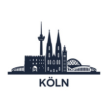 Cologne Skyline Emblem
