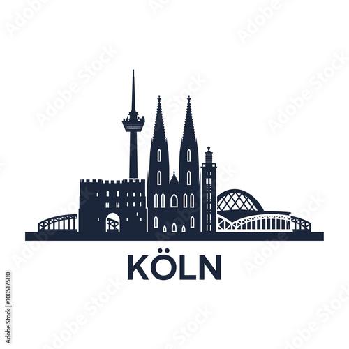 Fotografía  Cologne Skyline Emblem