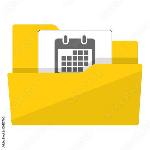 Simbolo De Calendario.Icono Plano Carpeta Simbolo Calendario Buy This Stock