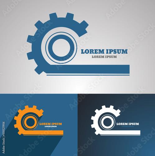 Gear Vector Logo Icon Template Machine Progress Teamwork Logo