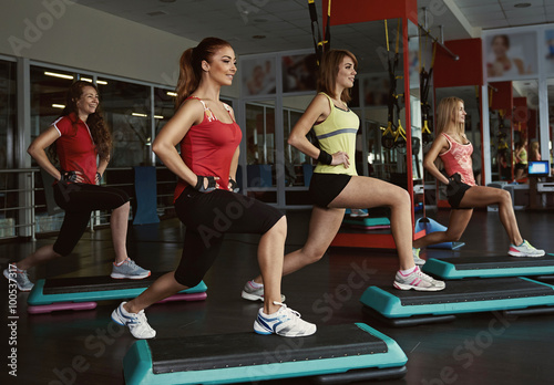 Fotografía  Step course in the gym