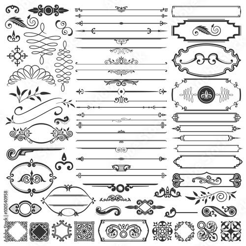 Calligraphic Design Elements Canvas Print