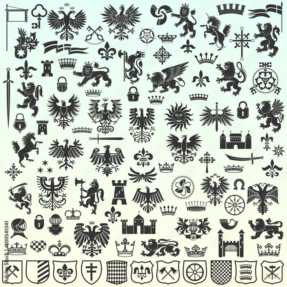 Fototapeta Heraldic Design Elements