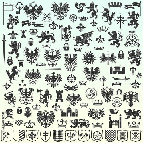 Foto  Heraldic Design Elements
