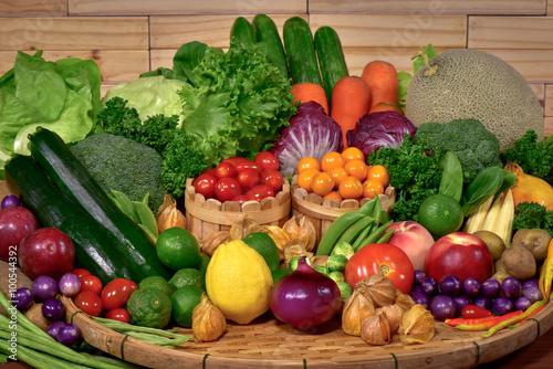 Fresh organic vegetables for healthy © peangdao