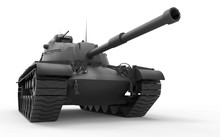Army  Tank Isolated Shot Vignette Concept On White Background