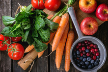 Mix Of Fruits, Vegetables And Berries