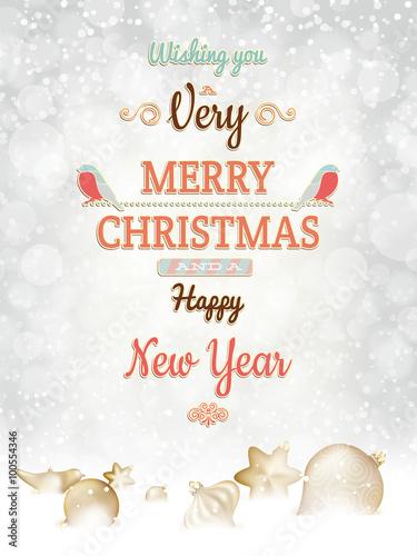 Fototapety, obrazy: Christmas greetings card template. EPS 10