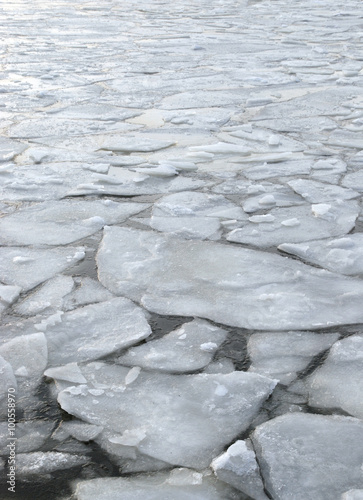 global warming impact on the environment, floating ice on