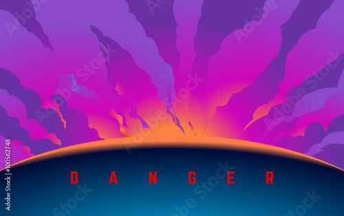 Danger Text Poster Mural XXL