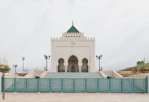Foto op Canvas Dubai The exterior of Mausoleum of Mohammed V in Rabat