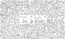 325 Doodle Icons.business, Fin...