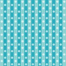 Blue Vintage Flower Pattern