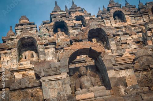 Foto op Plexiglas Indonesië Heritage Buddist temple Borobudur complex in Yogjakarta in Java, indonesia