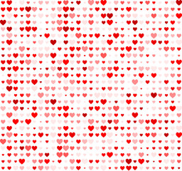 Panel Szklany Walentynki Valentine background with hearts.