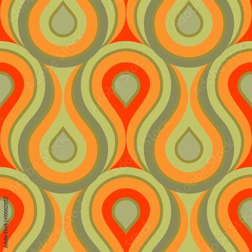 Photographie  Tuile ornement motif vert fond d'écran impression motif flammes vagues jaune