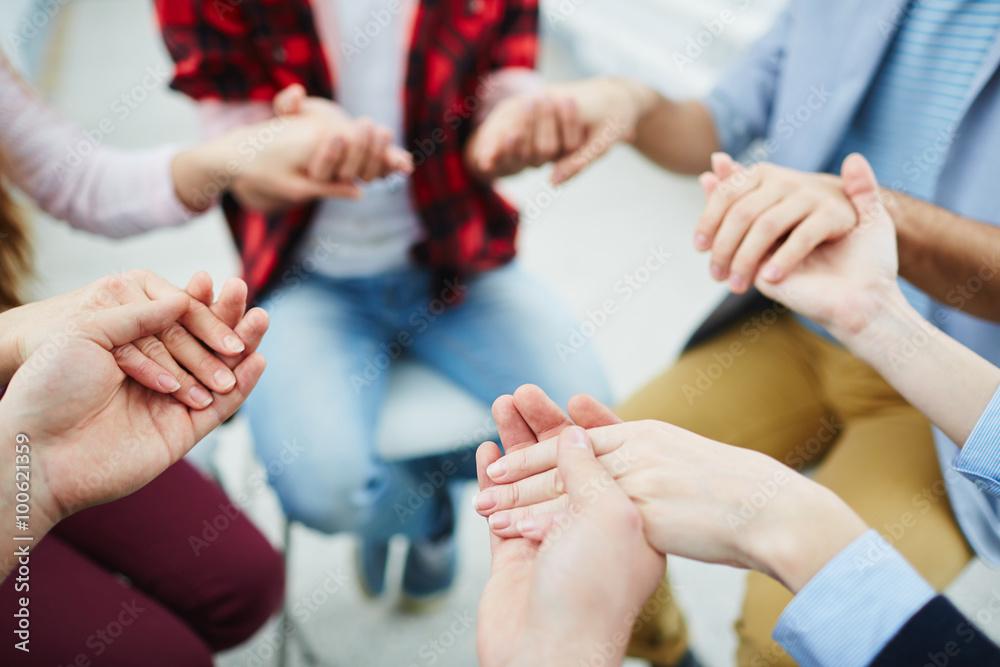 Fototapety, obrazy: Group pray