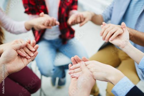 Fotografie, Obraz  Group pray