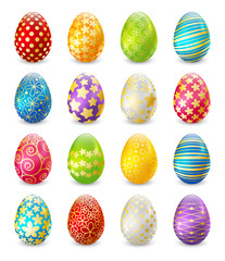 Naklejka Set of color Easter eggs