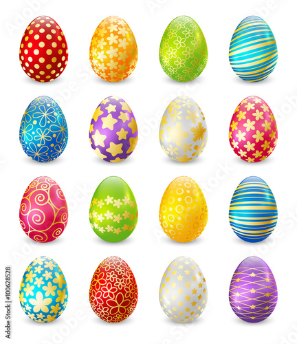 Set of color Easter eggs  - 100628528