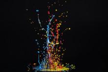 Farbtropfen Explodieren
