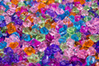 Colorful artificial crystals for party decoration