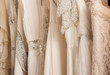 canvas print picture - Wedding dresses in detail