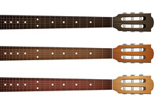 Set Of Guitar Neck Fretboard A...