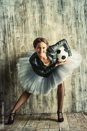 football and dancing Canvas Print