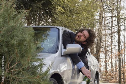 Fotografia, Obraz  Drunk Driving Car Accident