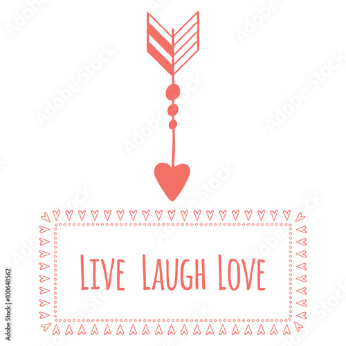 Photo  Saint Valentine's day greeting card