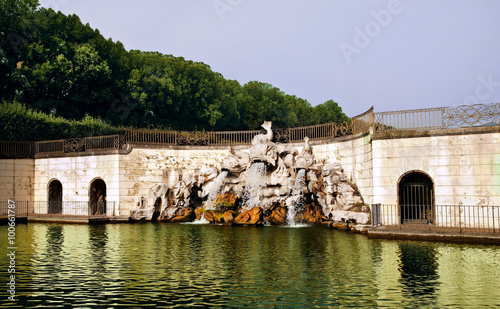 Photographie  Fontana dei Delfini -The Fountain of the Dolphins, in the  Royal Palace of Caserta, Italy