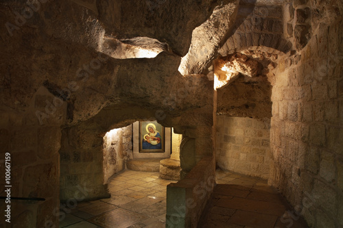 Stampa su Tela Cave of Milk Grotto church in Bethlehem