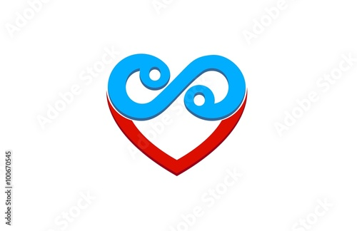 Heart Infinity Symbol Logo Buy This Stock Vector And Explore
