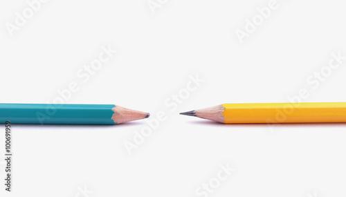 Obraz na plátně  sharpening pencil and unsharpening pencil