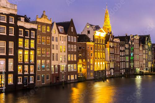 Amsterdam at dusk Wallpaper Mural
