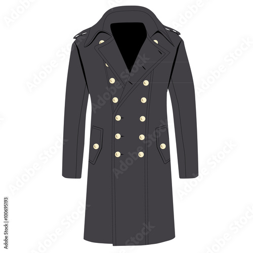 Fotografie, Tablou  Grey trench coat