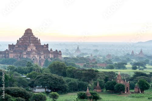 Poster Olive Bagan Sunset in Myanmar Nov 2014