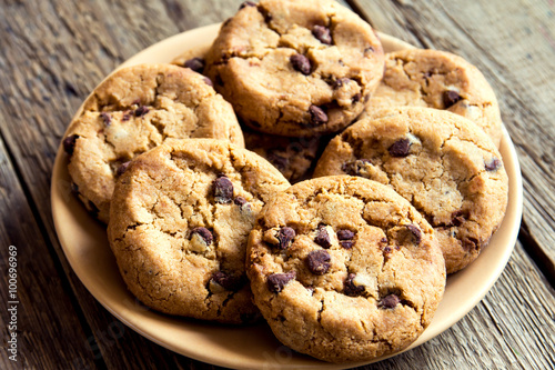 Papiers peints Biscuit Chocolate chip cookies