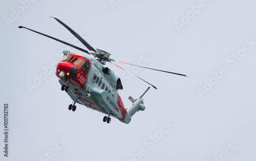 Poster Helicopter UK coastguard helicopter