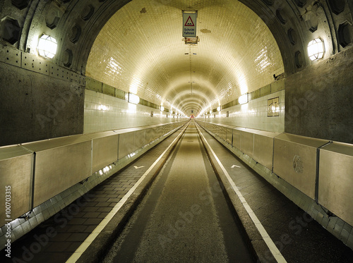 the old Elbe tunnel (Elbtunnel), Hamburg, Germany