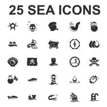Sea, Ocean, Diving 25 Black Si...