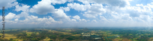 panorama cloud and sky with skyline view background - 100707986